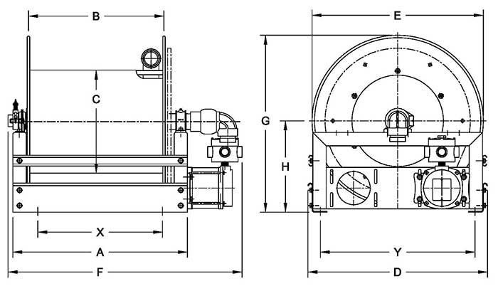 Dimensions for 2 Inch Series
