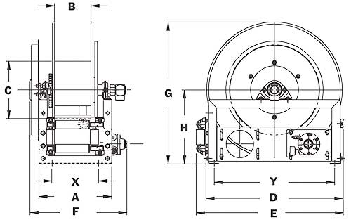 Dimensions for AG800 Series