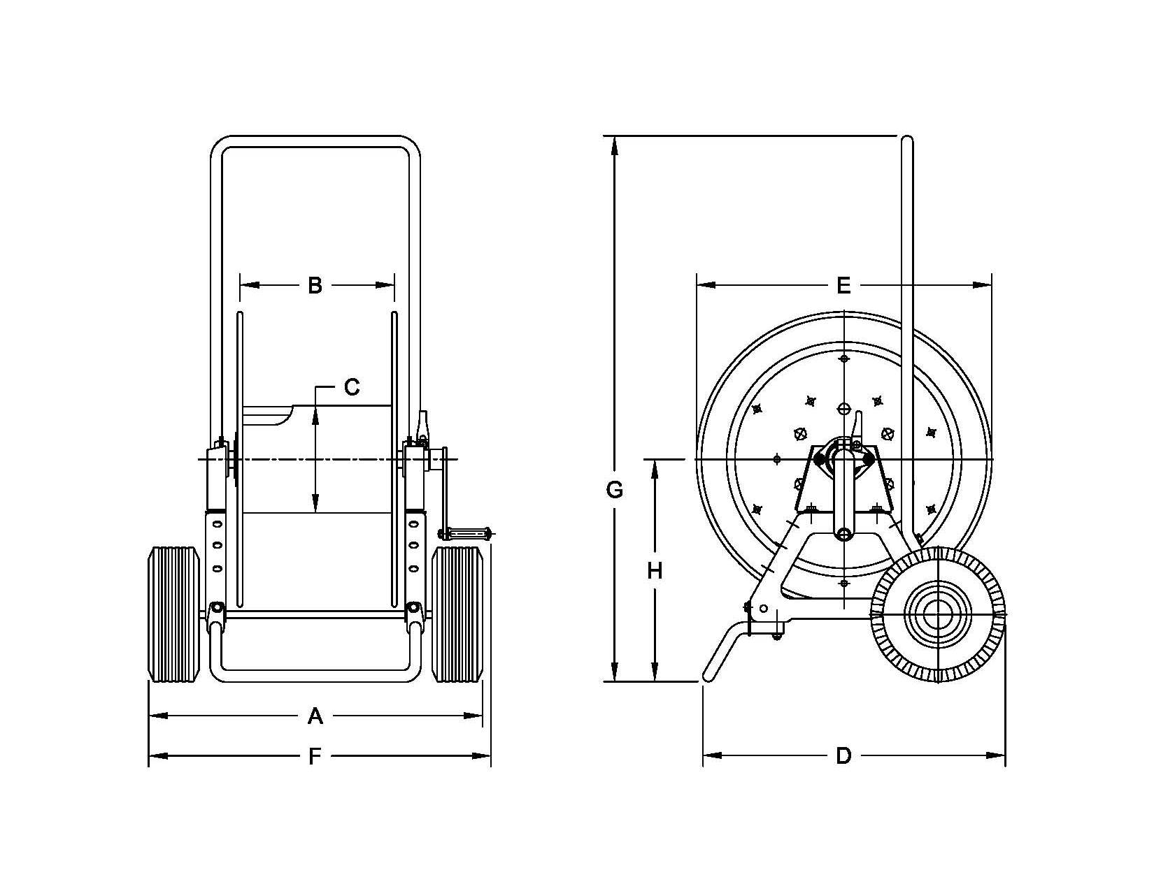 Dimensions for AVATC1250 Series