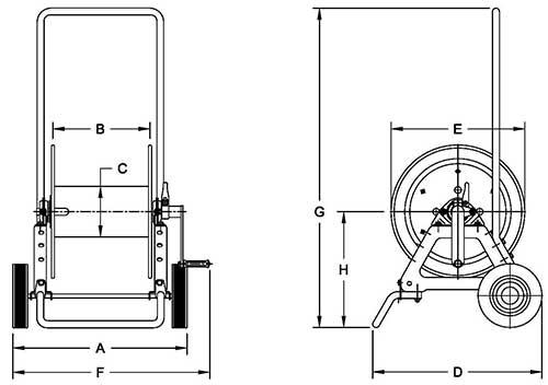 Dimensions for AVC1150 Series