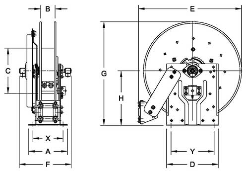 Dimensions for N600 Series