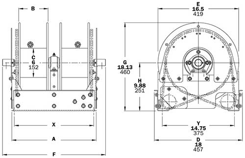 Dimensions for TEF1500 Series