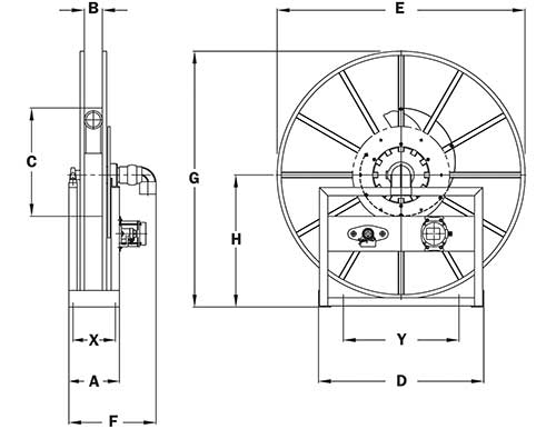 Dimensions for VAC-5000 Series